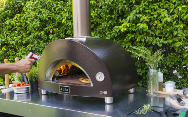 one outdoor cooking portable pizza oven