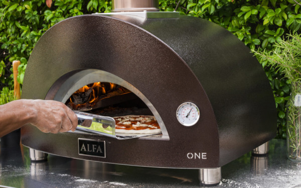 one wood fired pizza oven alfa forni outdoor cooking