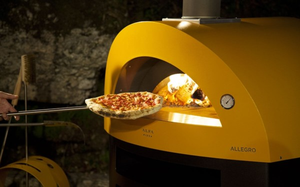 cooking pizza wood fired pizza oven allegro yellow color x